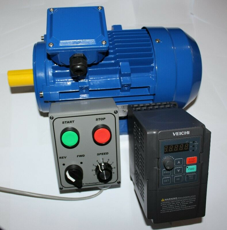 Single phase input, three phase output Variable Speed Drive (VFD VSD) on