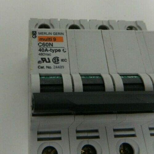 Merlin Gerin 24489 multi9 C60N Circuit Breaker 40A-Type C