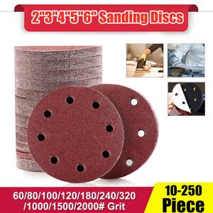 Auto-Adhesif-de-Poncage-les-Disques-Mixte-Grain-Papier-De-Verre-Orbital-Crochet-Sander-Pads