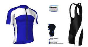 Hombre-ciclismo-media-manga-Camiseta-Carreras-Bib-Shorts-Juego