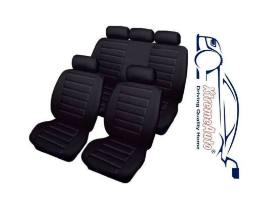 Bloomsbury Black Leather Look 8 PCE Car Seat Covers For Opel Astra Vectra Insign