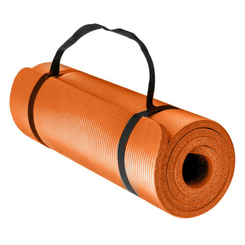 Yoga Mat for Pilates Gym Exercise Carry Strap 10mm Thick Large Comfortable UKES