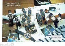 PUBLICITE ADVERTISING 116  1996  montres Michel Herbelin (2p rect vers) Newport
