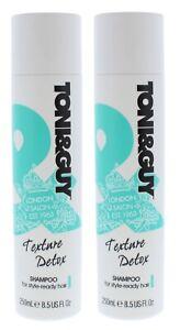 2-X-Toni-amp-Guy-Consistenza-Disintossicante-Shampoo-250ml-Ogni