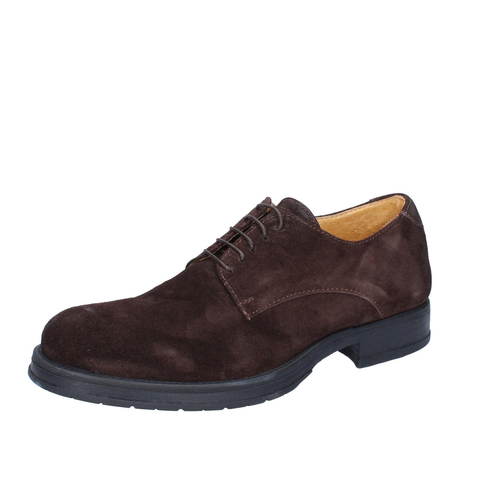 Men's shoes SALVO BARONE 11 (EU 44) elegant brown suede BZ164-44