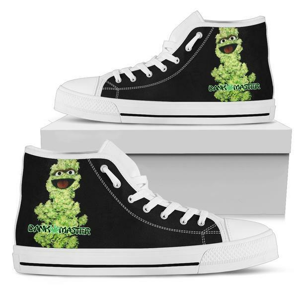 Dank Master Men shoes weed nug Oscar the Grouch marijuana cannabis sneakers