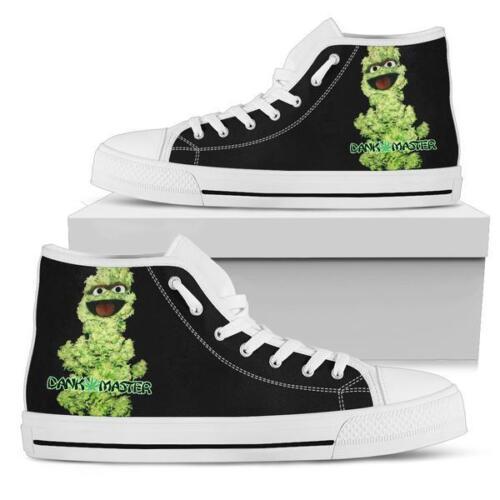 Dank Master Men Shoes weed nug Oscar the Grouch marijuana cannabis sneakers