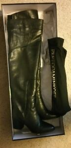2cfe7aac8f1 Rebecca Minkoff Blessing Black Leather Over the Knee Boots sz  US 8 ...