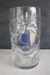 2-Loewenbraeu-Muenchen-Masskruege-1-0-Liter-Bierkruege-Bierglaeser