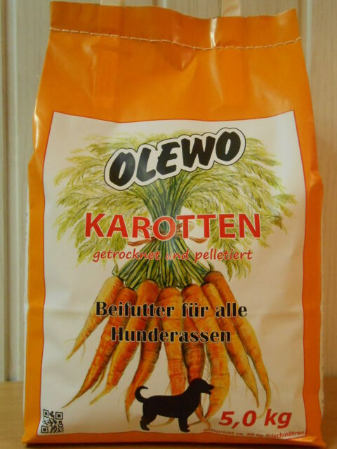 OLEWO Karotten Pellets 5kg Hundefutter €4,96/kg