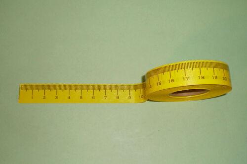 12 ROLLS TABLE STICKER MEASUREING ADHESIVE TAPE RULER PLASTIC READ IN METRIC