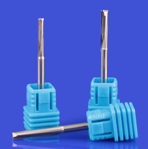 10pcs 3.175mm x 5mm 2 straight Flute End Mill Cutters CED 3.175mm 1//8 CEL 5mm