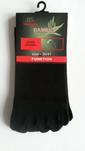 1 bis 10 Paar Zehensocken BAMBUS Zehenstrumpf fünf Zehen Socken Damen und Herren