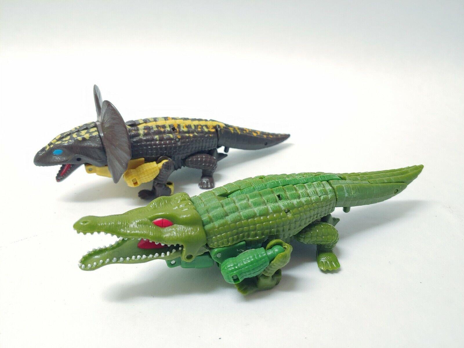 1995 Transformers Beast Wars Megatron Gator & RARE Iguanus Predacon Set
