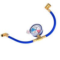 R134a Ac Hvac Recharge Measuring Refrigerant Hose Can Tap W/ Gauge System 18.8