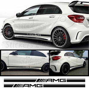 Fasce-adesive-Mercedes-A45-AMG-strisce-fiancate-adesivi-laterali-SPATOLA-OMAGGIO