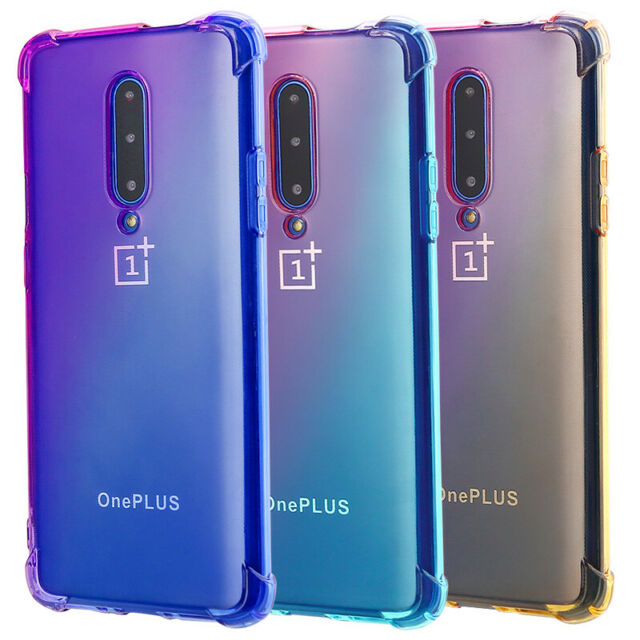 For OnePlus 7 Pro 6T Shockproof Gradient Silicone Clear
