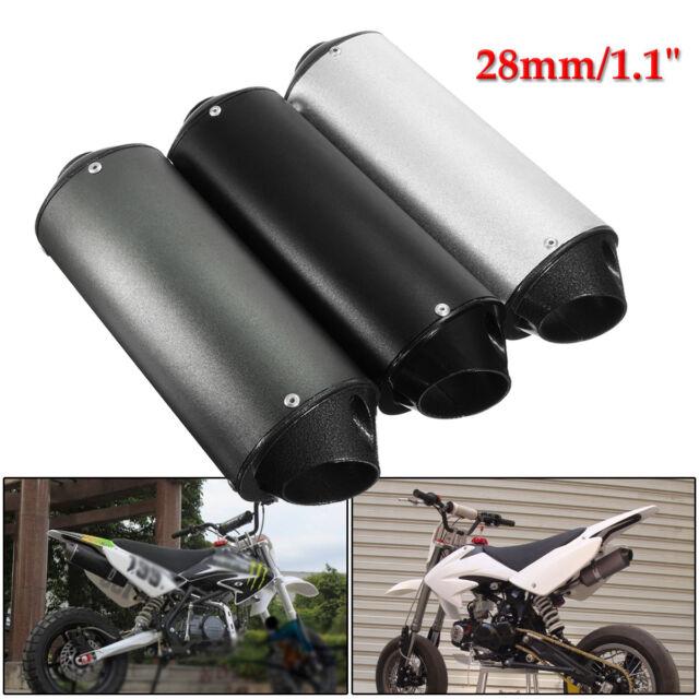 28mm Muffler Exhaust Pipe For 90cc 110cc 125cc 4 Stroke Dirt Pit Quad Bike ATV