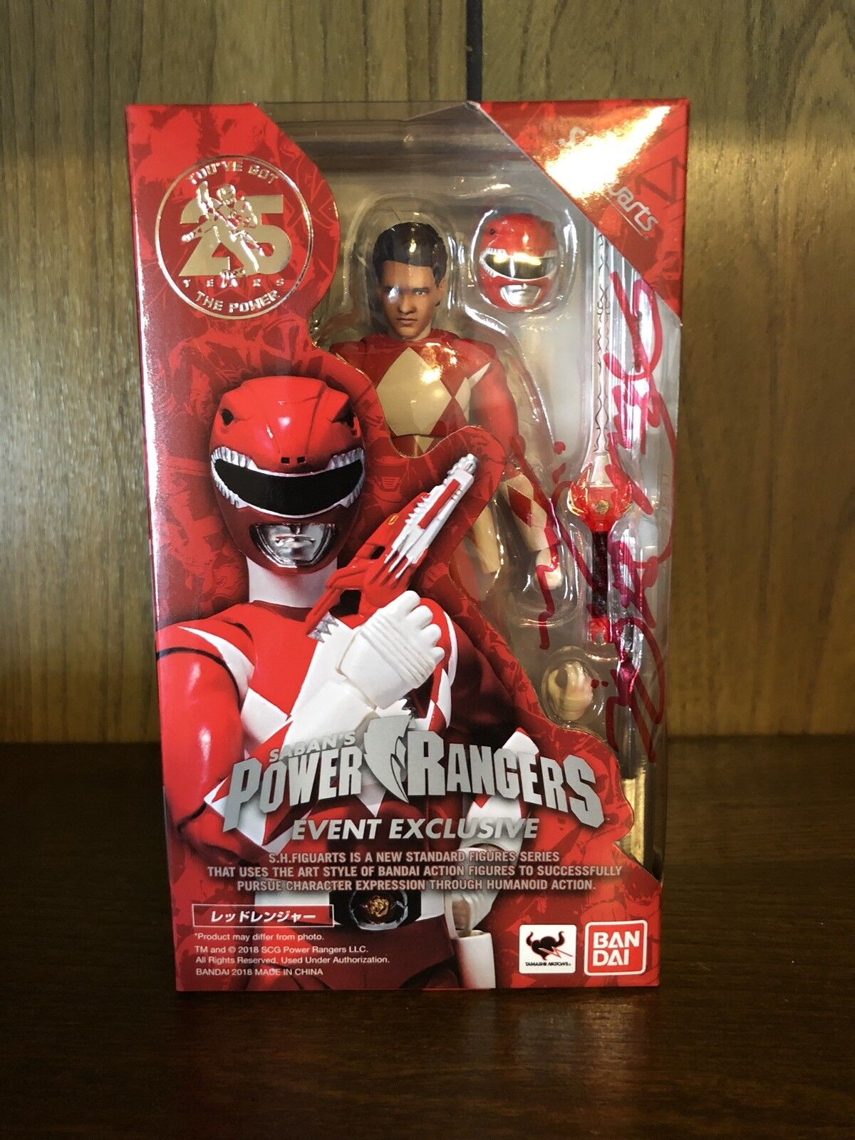 San Diego comic-con 2018 TAMASHII S.h. figuarts Power Rangers Ranger Rojo Jason firmado autógrafo