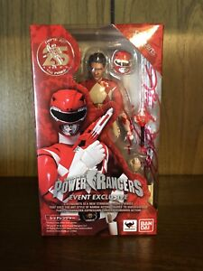SDCC 2018 TAMASHII NATIONS EXCLUSIVE S.H FIGUARTS RED RANGER *READY TO SHIP*