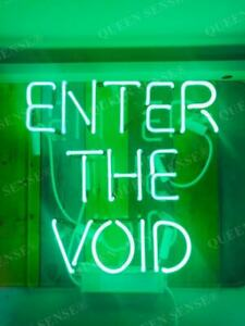 New Enter The Void Neon Sign Light Lamp Wall Decor Glass Artwork Party Gift Bar