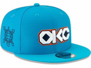 NEW ADIDAS NBA Oklahoma City Thunder Embroidered Flatbill Snapback Cap Hat