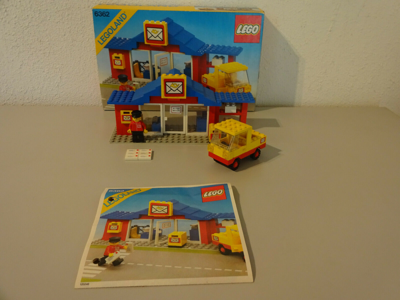 (Go) 6362 Legoland post Office post with Ovp Ovp Ovp Ba 100% Complete Used Rare 94529e