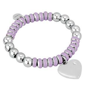 2JEWELS-bracciale-donna-231367s-acciaio-cuore-elastico-lilla-brillantino-nuovo