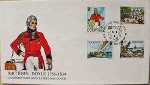 """Guernsey sellos: """"Sir John Doyle"""" - primer día cubierta 1984"""