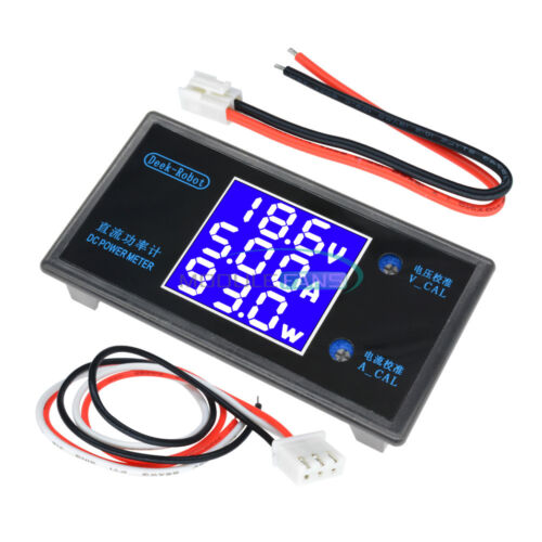 DC 5A//10A 50//100V Digital LCD Display Voltmeter Wattmeter Current Power Tester