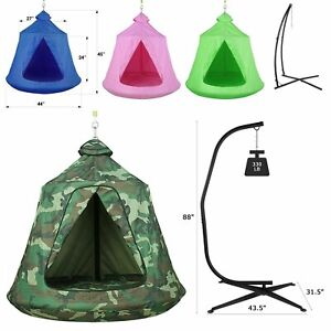 Outdoor Hanging Tree Tent Kids Adults Hammock Swing Chair Fun Play Tent Camping
