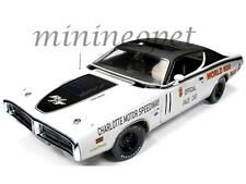 AUTOWORLD AW223 WORLD 600 PACE CAR 1971 DODGE CHARGER 1/18 DIECAST WHITE