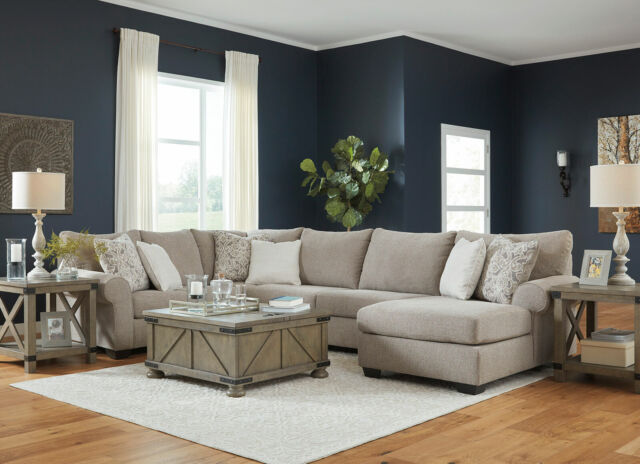 Pleasing New Modern Sectional Living Room Furniture Tan Gray Fabric Sofa Chaise Set Ig14 Ocoug Best Dining Table And Chair Ideas Images Ocougorg