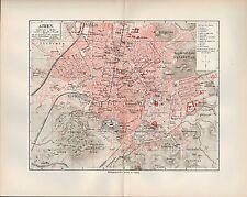 Landkarte city map 1906: Stadtplan Athen. Griechenland Greece Metropolis Olympie