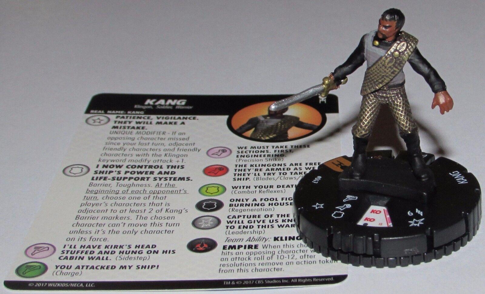 Kang 047 Star Trek  Postal Équipe WizEnfants Heroclix Poursuite Rare  bénéfice nul