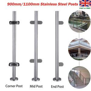 End Post Clamp Grade 304 Glass UK Stainless Steel Balustrade Posts Mid Corner