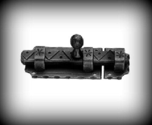 Coulissante-loquet ancien 105x40 mm porte porte clôture coffre FORGE fer métal 18-897