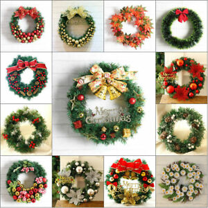 image is loading christmas wreath decor for xmas party door wall - Hanging Garland Christmas Decorations