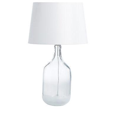 NEW Australian House & Garden Otoway Glass Base Lamp, 68cm - White