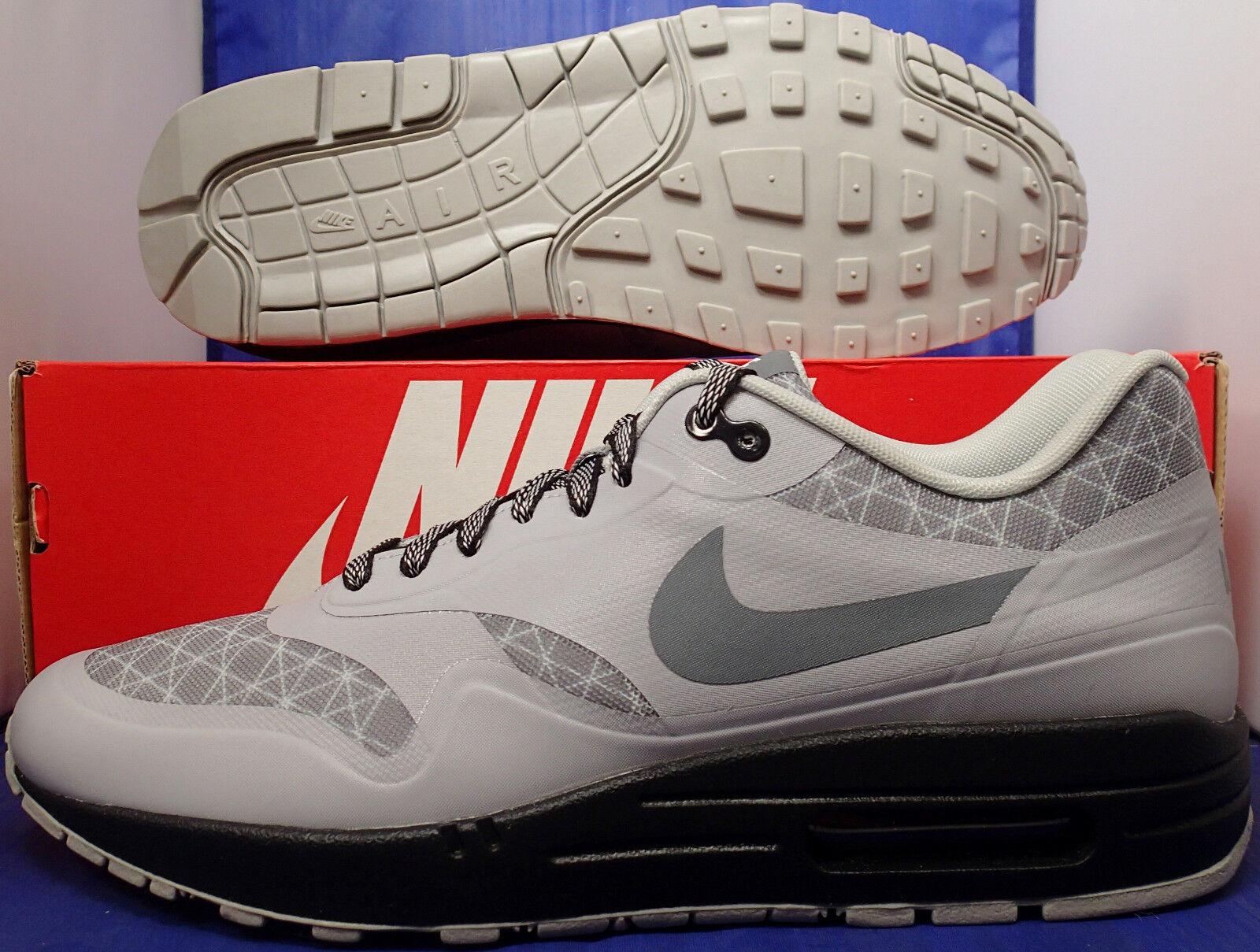 Nike Air Max 1 HTM Tinker Hatfield QS iD Grey Black SZ 9.5 ( 874605-991 )