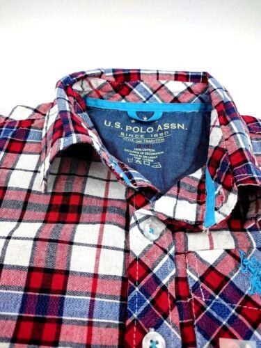U.S Polo Assn Boys/' Short Sleeve Engine Red Shirt