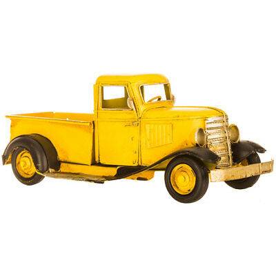 Great Cute Gift YELLOW PICKUP Metal Vintage TRUCK Farmhouse Old Days
