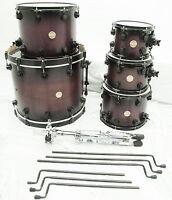 DW Collector's Series 5 PC Drum Set 22x18 10 12 14 16 Maple - Purple