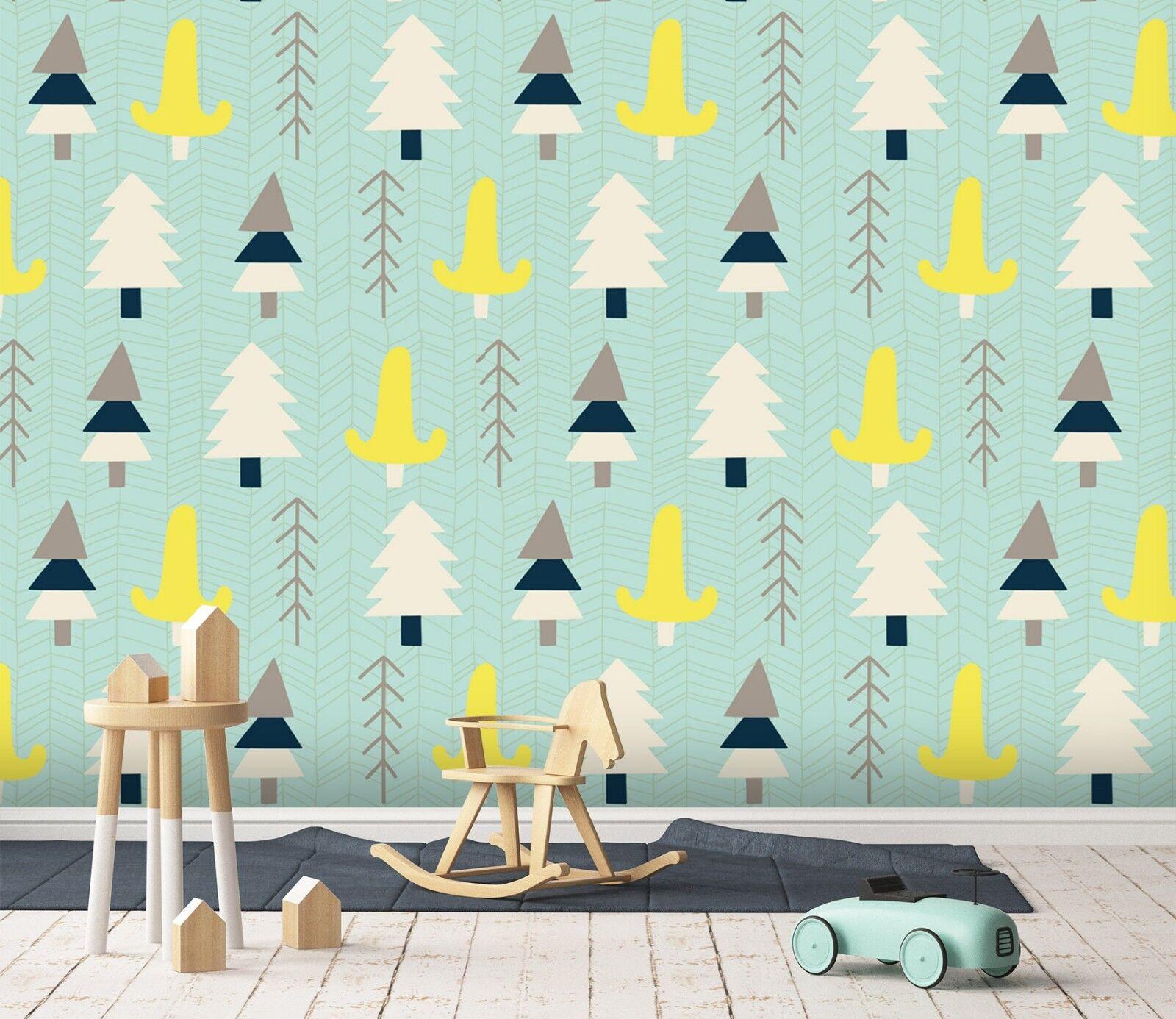 3D yellow Bäume 868 Tapete Wandgemälde Tapete Tapeten Bild Familie DE Sidney