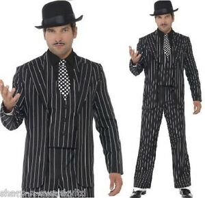 Mens 1920s Vintage Gangster Bugsy Malone Gatsby Fancy Dress ...