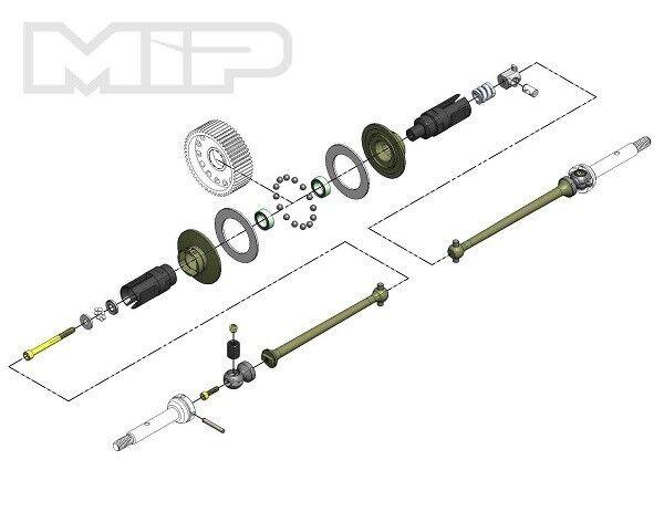 Metal-MIP Bi Super Diff 13.5 Unidad Kit Kit Kit TLR 22 4.0 - MIP17060  el mejor servicio post-venta