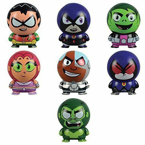 Teen Titans Buildable Figurines complete set of 7