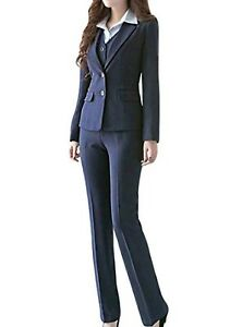 elegant shape new arrive top-rated real Details about MFrannie Women's Business Office OL Work Blazer Jacket and  Pants Suit Set