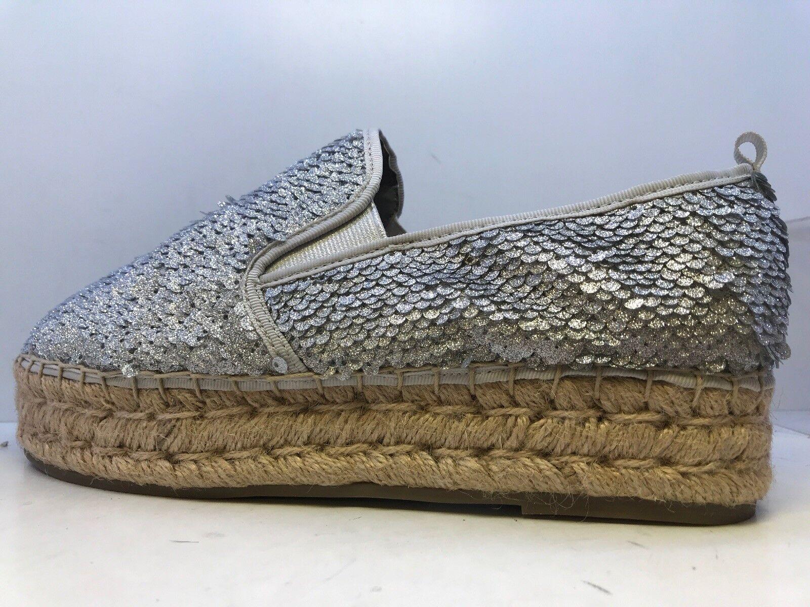 20165a6c41b802 ... Steve Madden Poppi Femmes argent pailletées Espadrilles Chaussures UK  Taille Taille Taille 6 | Jolie Et ...