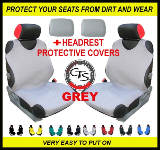 2x CAR FRONT SEAT COVERS PROTECTOR For Mercedes C-Class W204